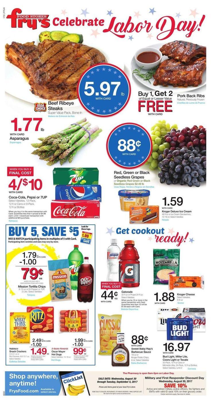 Fry's Weekly Ad August 30 - September 5 #grocery savings #Frys food circular U.S.
