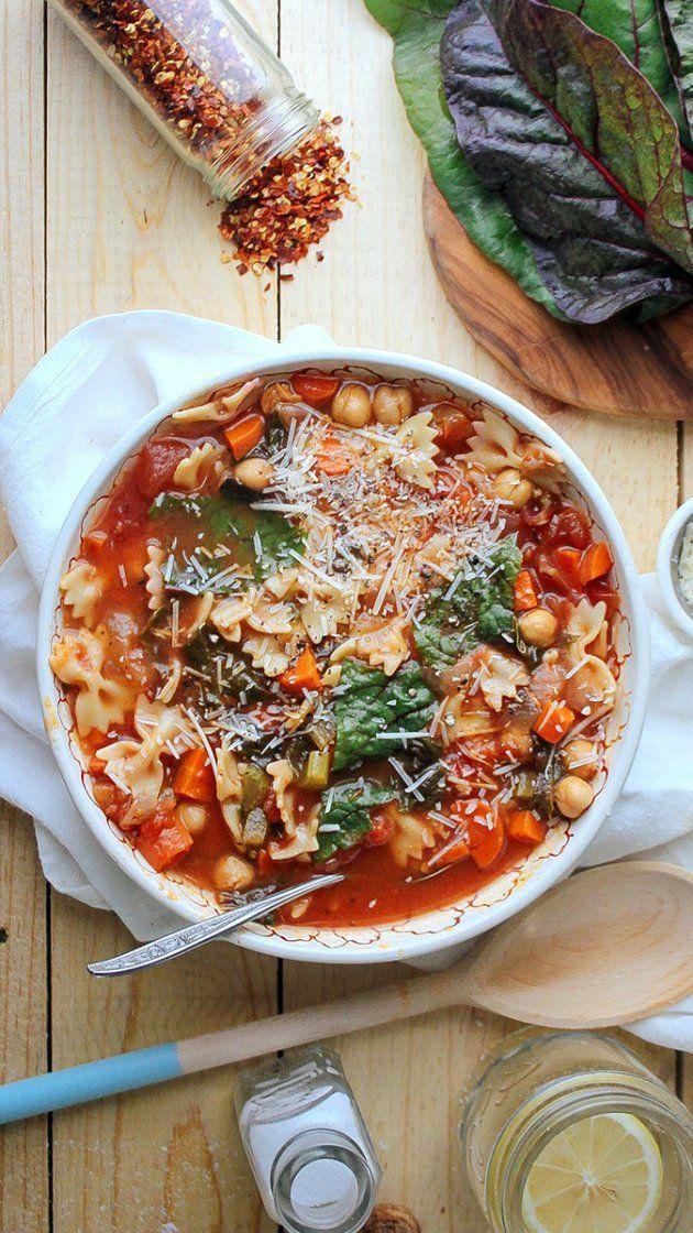 Chickpea Tomato Minestrone via @AOL_Lifestyle Read more: https://www.aol.com/food/recipes/chickpea-tomato-minestrone