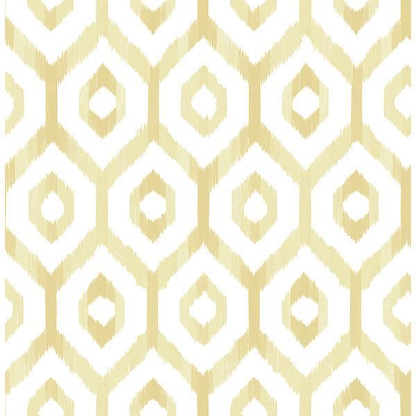 A Geometric Wallpaper With A Sunny Disposition This Chic Trellis
