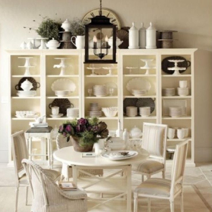 Tuscan Bookcases From Ballard Designs Dish DisplayWhite Dining RoomsDining