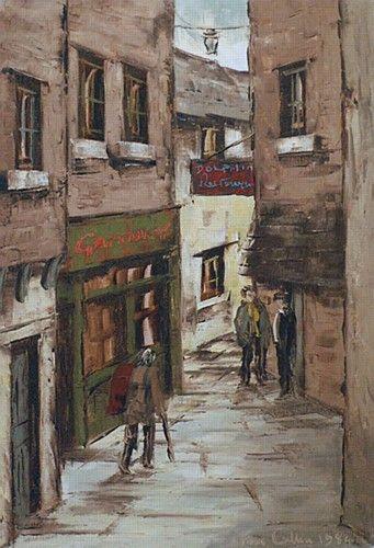 Tom Cullen 'Crampton Court, Dublin' #art #Dublin #painting #city #streets #TomCullen #DukeStreetGallery
