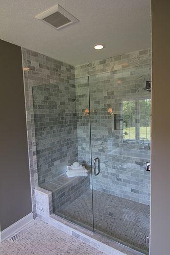Bathroom -- large walk in shower for guest bath