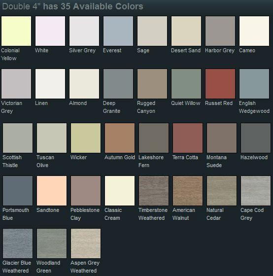 Mastic Vinyl Siding Color Chart