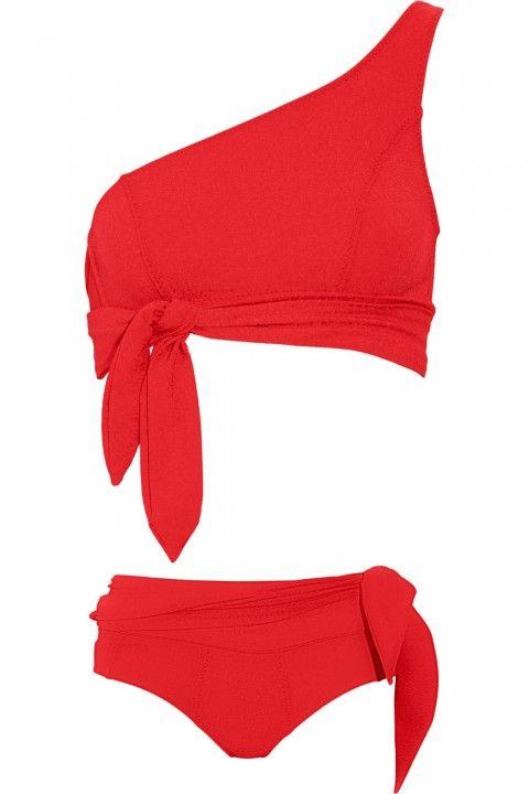 colour :: one shoulder :: tie waist on top + brief