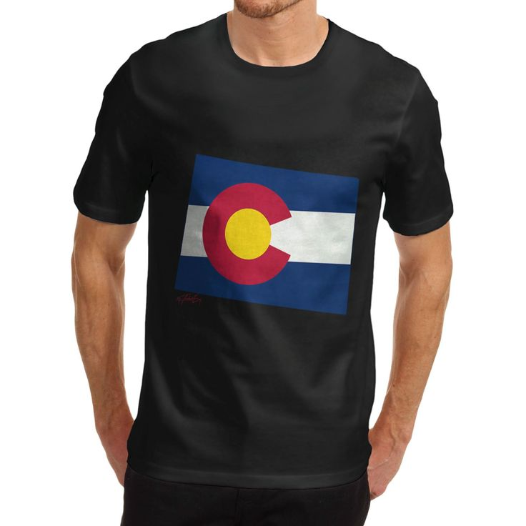 Men'S T Shirt Fashion Usa States And Flags Colorado 100% Organic Cotton T Shirt Hip Hop Novelty T Shirts Men'S Brand Clothing