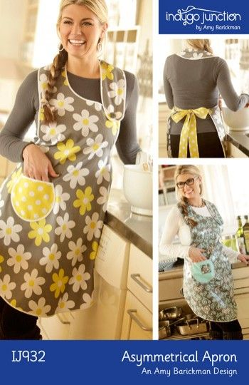 Asymmetrical Apron | Indygo JunctionAprons Pattern, Indygo Junction, Photos Ideas, Diy Sewing, Aprons Ideas, Sewing Pattern, Asymmetrical Aprons Lov, Indygojunction Com, Sewing Ideas