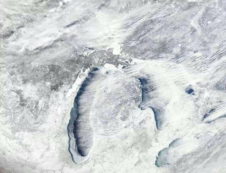 Awesome satellite imagery taken of Michigan, January 2014