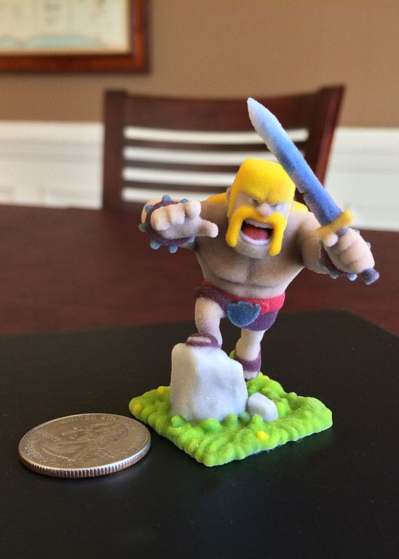 Clash of Clans Barbarian Action Figure Statue by HeroCustoms