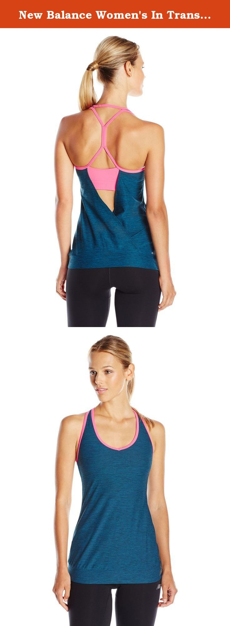 New Balance Women's In Transit Bra Top, Castaway Heather, Medium. The New Balance in transit bra top mixes sport with style. It has everything you appreciate when working out, from knit top with a supportive inner shelf bra with sweat-wicking nb dry technology. Plus, it has the looks to take you beyond the gym, with a modern loose fit, banded hem, and flirty racerback style.