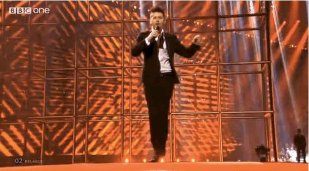 Belarus danced like this.   The 24 Most Important Moments From Eurovision 2014