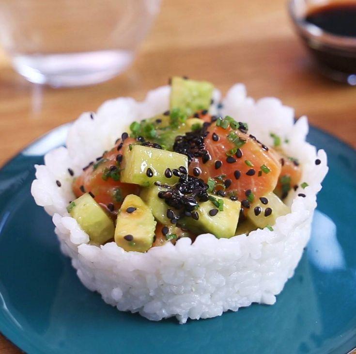 Sushi cups à l'avocat