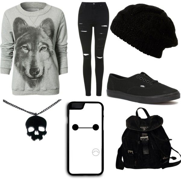 Untitled #7 by ronnieradkemine on Polyvore featuring polyvore fashion style Topshop Vans Prada