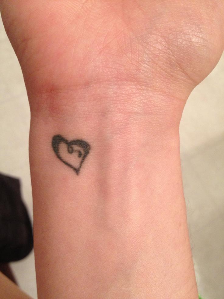 Small Heart Wrist Tattoo