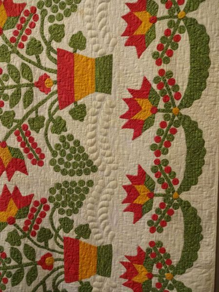 Greetings! This past Friday I went to the New England Quilt Museum in Lowell, MA (a convenient one hour drive from here) to see a FABULOUS exhibit of antique, mostly red, green, and white quilts f…