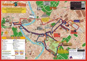 City Sightseeing Rome Sightseeing Bus Route Map