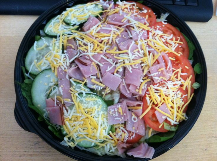 Try a subway black forest ham spinach salad w sweet onion or chipotle