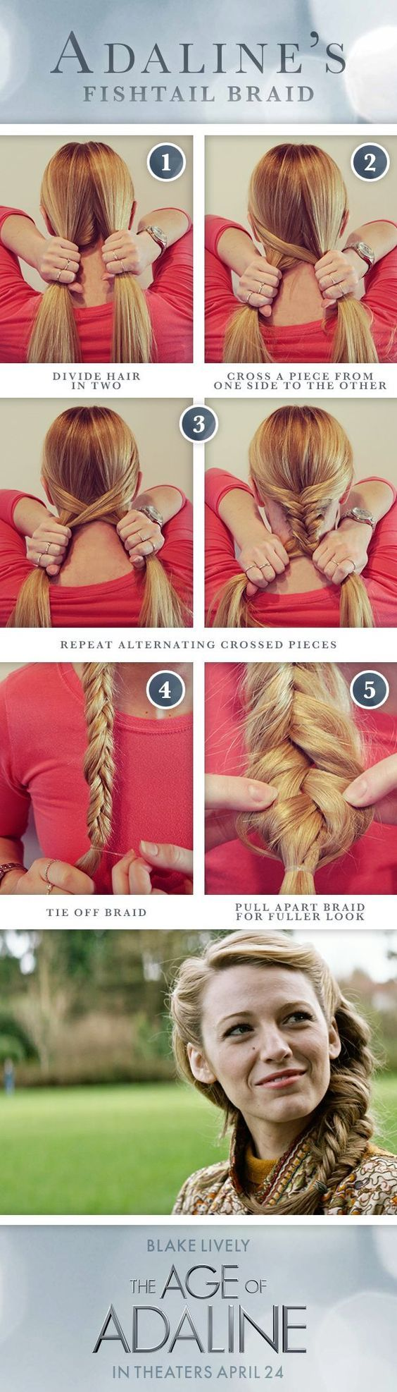 Some looks are timeless, like Adaline's fishtail braid. It's quick and easy for any occasion!