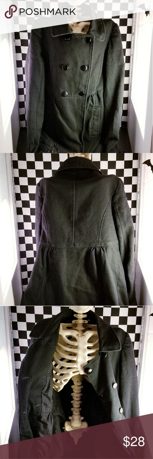 #wednesdayvibes Black Pea Coat This classy coat has an Addams' feel! Throw it on & hit the cemetery for a game of Wake the Dead! ☠☠☠  In great condition. No holes or stains 🖤 Tulle Jackets & Coats Pea Coats