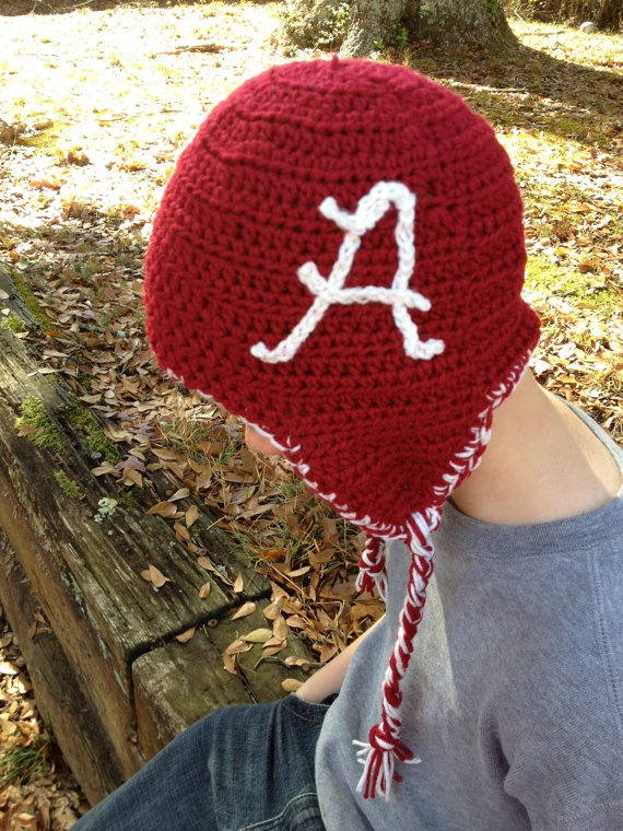 University Alabama college football hat with ear by headcandy1, $23.00