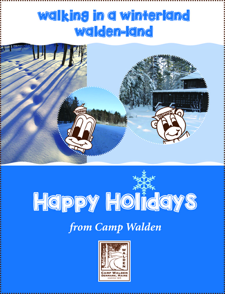 Camp Walden Holiday Greetings