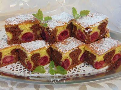 Rozi Erdélyi konyhája: Kétszínű cseresznyés sütemény