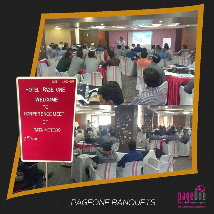 We are delighted that India's largest automobile company by revenue, Tata Motors, chose #Pageone #banquet hall as their venue for a #conference #meeting. It was our honour to serve them.