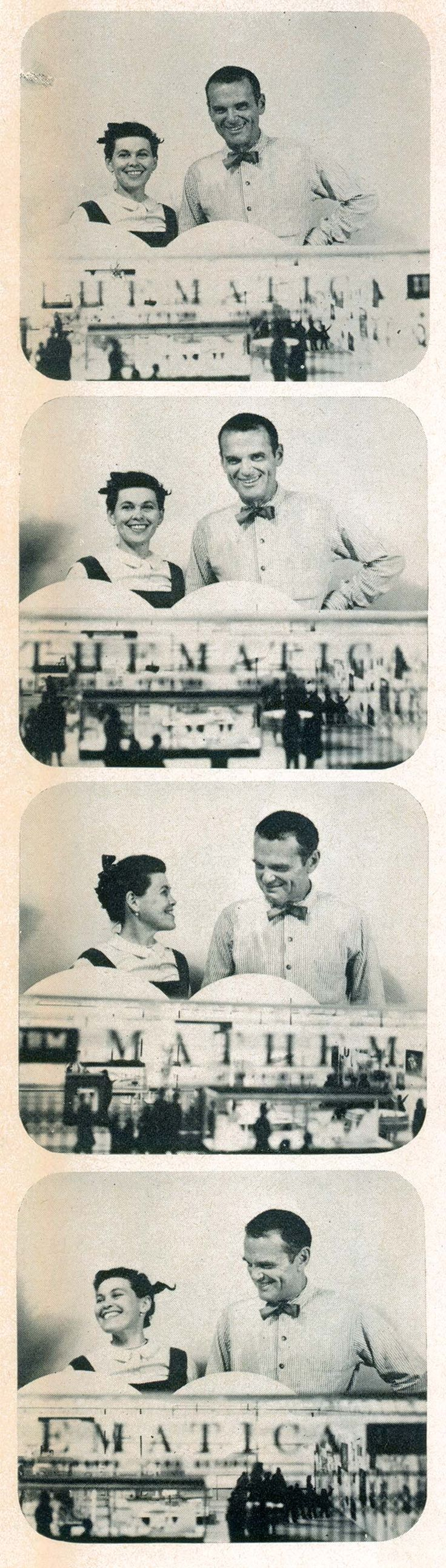 Charles and Ray Eames with a model of their Mathematica Exhibition.  Now at The New York Science Museum, The Boston Museum of Science, and soon at The Henry Ford  #thehenryford