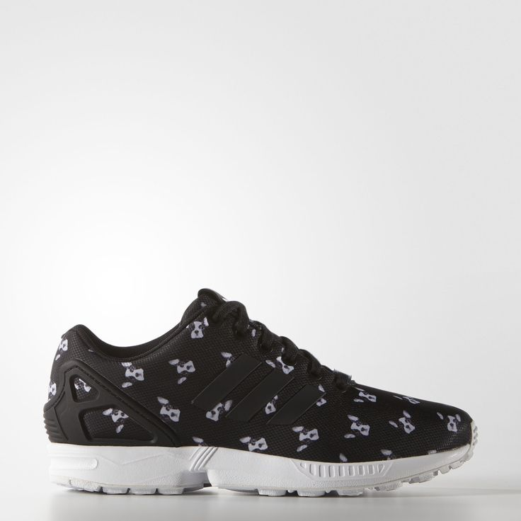 adidas zx flux shoes black and white cartoon dog characters