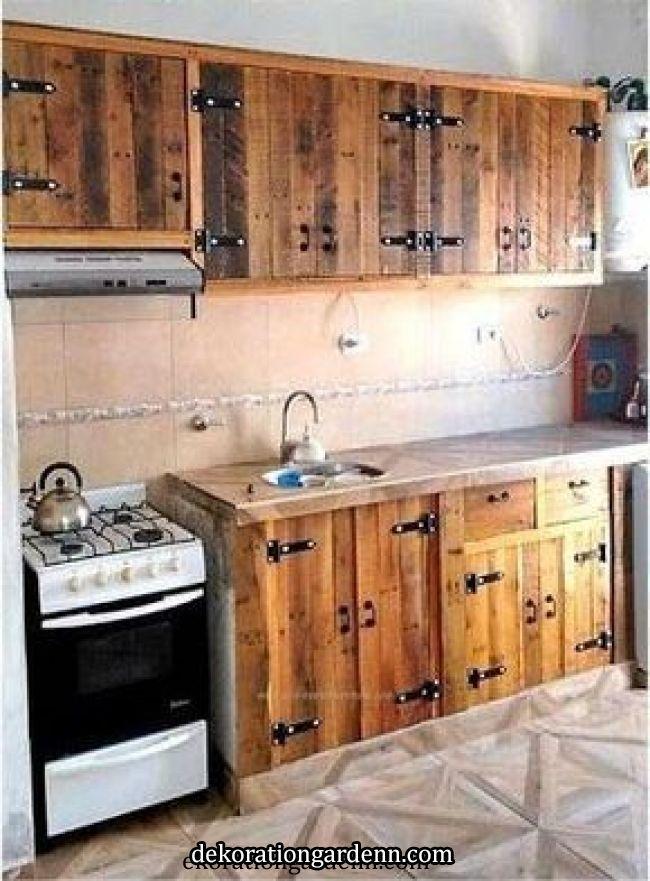 Photo Photo Rustic Kitchen Pallet Kitchen Cabinets Rustic Kitchen Cabinets