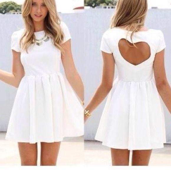 SABO SKIRT HEART BACK DRESS NET SIZE 6 Sabo Skirt (australian brand) heart back dress in white, brand new with tags! Size 6, perfect for valentines day! Sabo Skirt Skirts