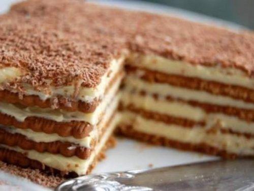 Krémes keksztorta, a gyerekek kedvence! Sütés nélkül, percek alatt elkészíthető! - Ketkes.com