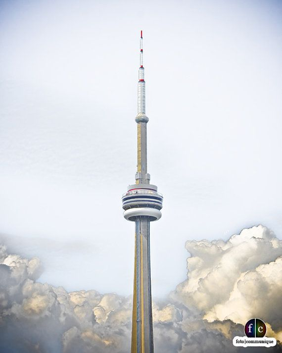 CN Tower In The Clouds, a stunning Toronto photograph now available for purchase.