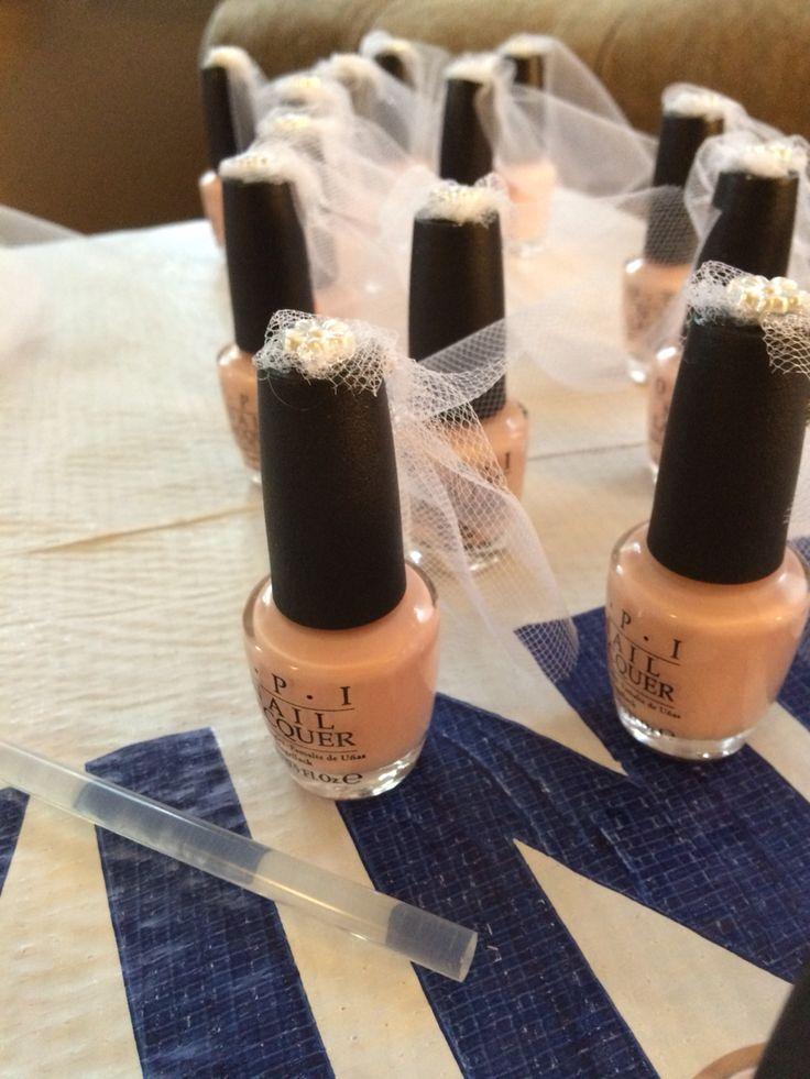 bridal shower veil nail polish