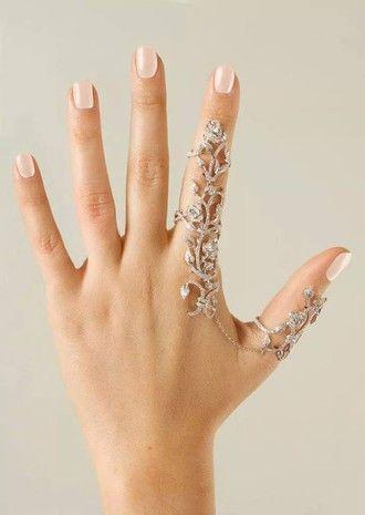 jewels finger ring thumb ring bracelets connected ring and bracelet ring knuckle ring jewelry bling