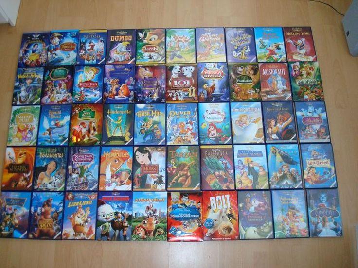 Disneyn Klassikot / näistä löytyy jo: Aladdin, Dumbo, Oliver ja kumppanit, Liisa Ihmemaassa, Tuhkimo, Viidakkokirja, Maija Poppanen, Robin Hood, Pinocchio, Nalle Puh, Riemukas Robinsonin perhe, Karhuveljeni Koda, The three caballeros