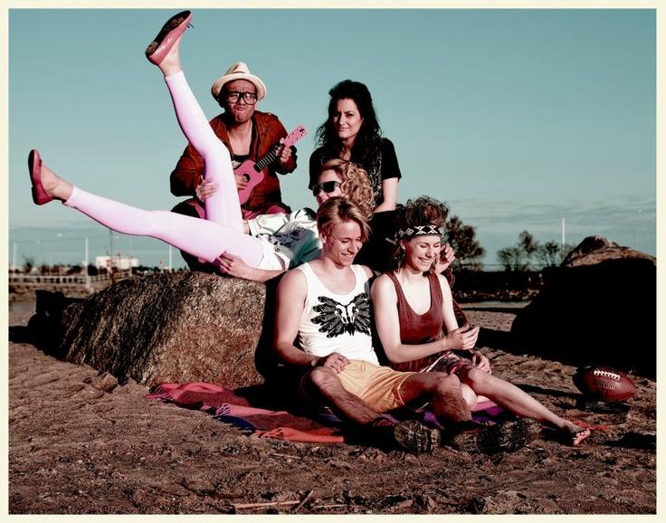 Midsummer Party. Aleksi Ranta, Hannah Elka Meyers, Inka Juslin: All wearing Ivana Helsinki. Dancers, singers and artists.