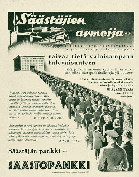 säästöpankki | Mainosmuseo. Suomalaisen mainonnan historia