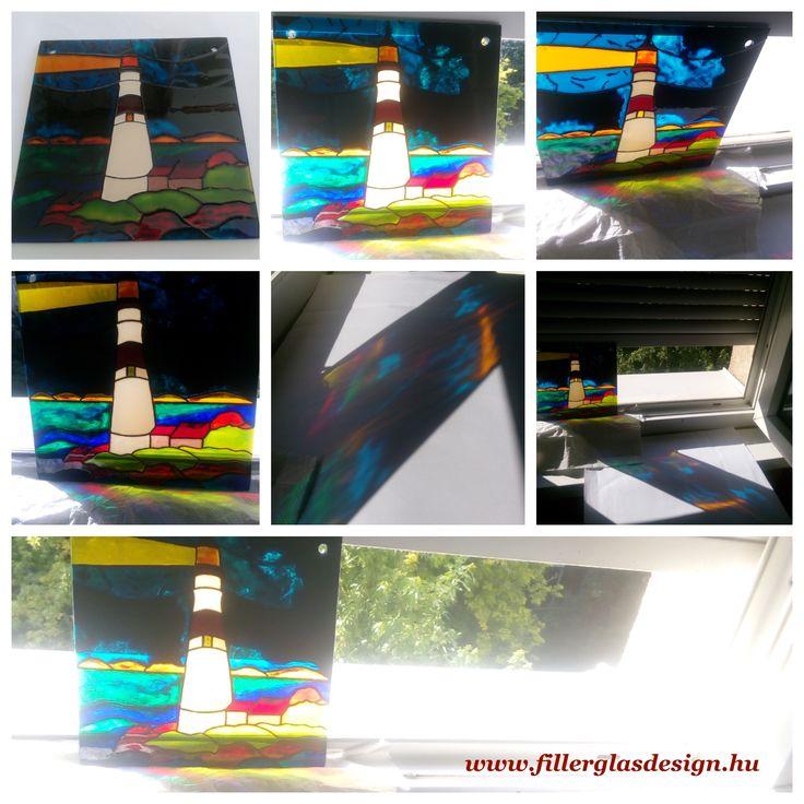 Kézzel festett üvegkép