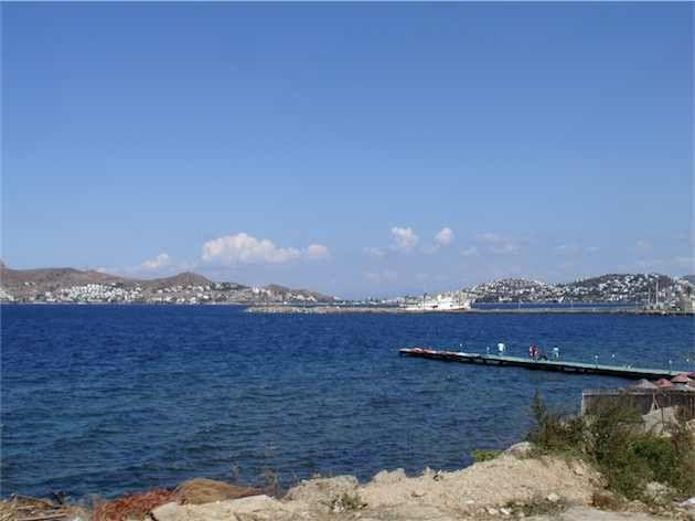 View looking back at Yalikavak. Bodrum Peninsula Turkey