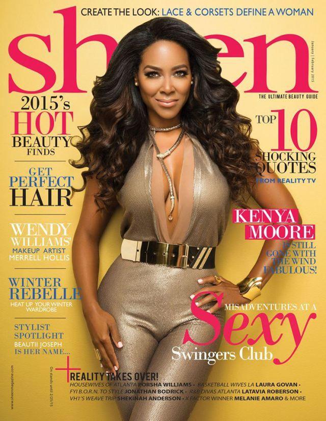 Kenya Moore Covers Sheen Magazine