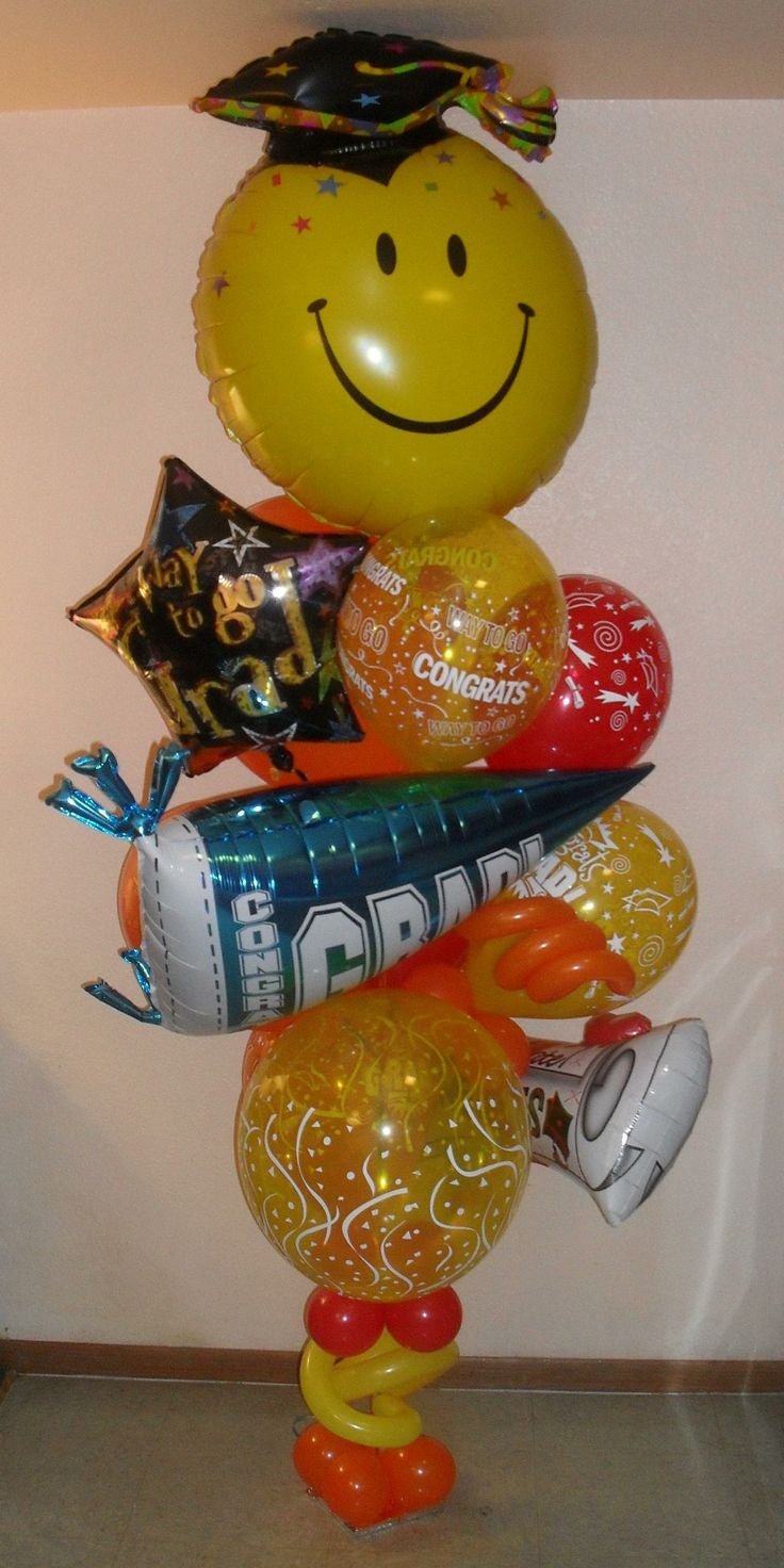 Medium congratulations way to go graduation balloon for Balloon decoration ideas for graduation