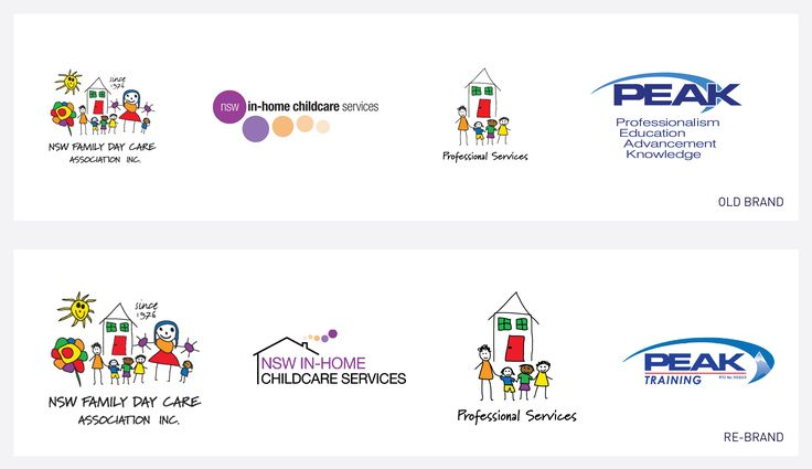 The old logo collection beside the refresh of two sector logos. Challenges included maintaining reference to the previous design, while bringing the new design into the present marketing climate for business success.