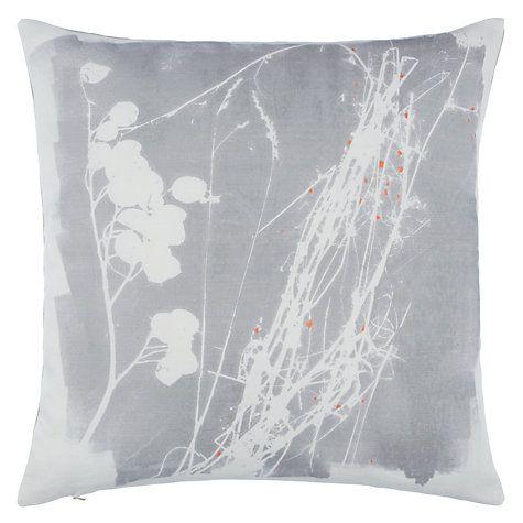 Buy John Lewis Croft Collection Grasses Cushion, Storm Online at johnlewis.com