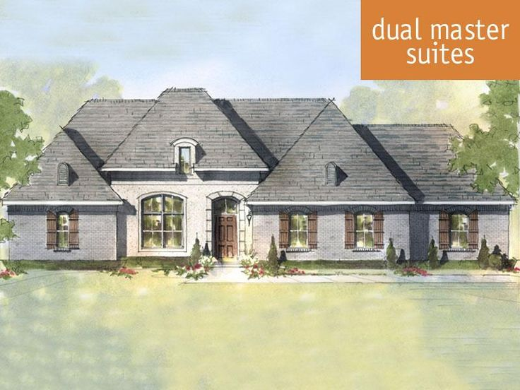 44 Best Images About Dual Master Suites House Plans On Pinterest Master Pla