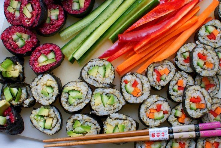 Veganské sushi s quinoou a červenou řepou - Scribbler.cz