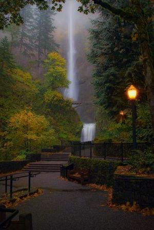 Multnomah Falls, Oregon by algegra