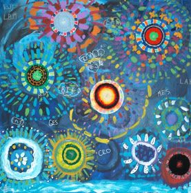 Gallery2404: FireWorks Canvas Painting