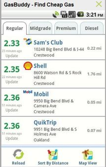 Find Cheap Gas Prices on Your Android: GasBuddy