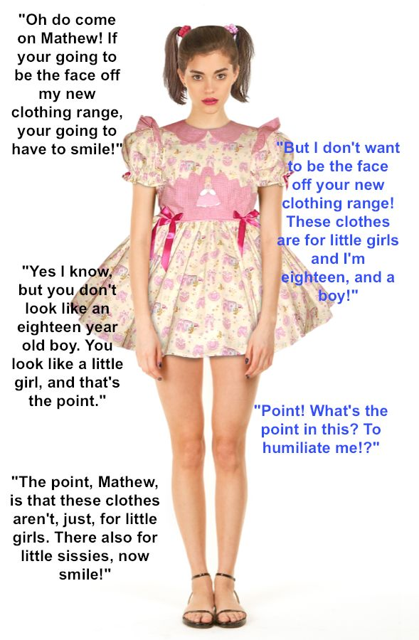 Ageplay Porn Captions - ageplay - baby dress I would LOVE to wear this dress and be this young and  cute again! When I was about five the girls next door used to dress me in  ...