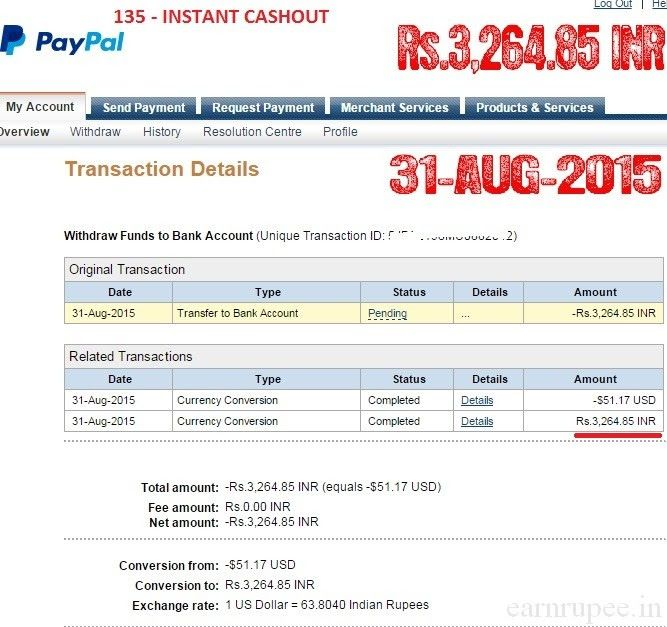http://www.earnrupee.in Earn Rupee Latest Payment Proof. 100 FreeMoneyBank  AccountIndianSilver